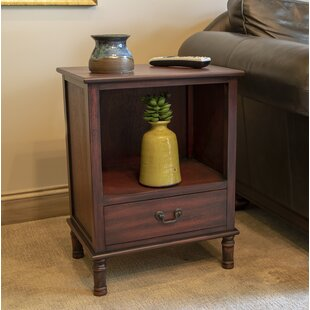 India End Table with Storage b..