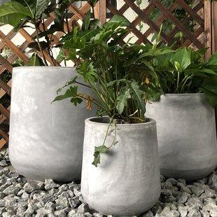 Williston Forge Gann Cylinder 3-Piece Pot Planter Set