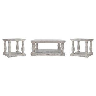 Lark Manor Sannoise 3 Piece Coffee Table Set