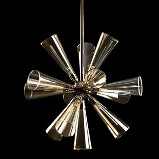 Viz Glass 12-Light Sputnik Chandelier