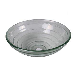 Inexpensive Tempered Glass Oval Vessel Bathroom Sink ByJano Sanitary