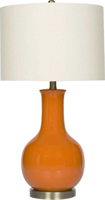 """Trevino 29.5"""" Table Lamp #orange #gourd #lamp #midcenturymodern"""