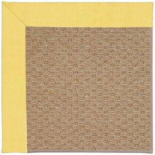 Lisle Machine Tufted Yellow/Brown Indoor/Outdoor Area Rug