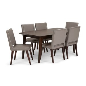 Draper Mid Century 7 Piece Dining Set by ..