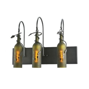 Meyda Tiffany Tuscan Vineyard Etched Grapes 3-Light Vanity Light