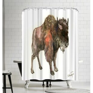 Suren Nersisyan Bison Single Shower Curtain
