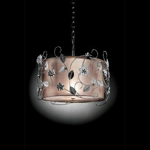 House of Hampton Betsy Floral 1-Light Drum Pendant