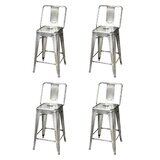Sedgwick Middle Back Metal 24 Bar Stool (Set of 4) by 17 Stories