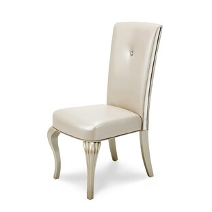 Michael Amini Hollywood Loft Genuine Leather Upholstered Dining Chair