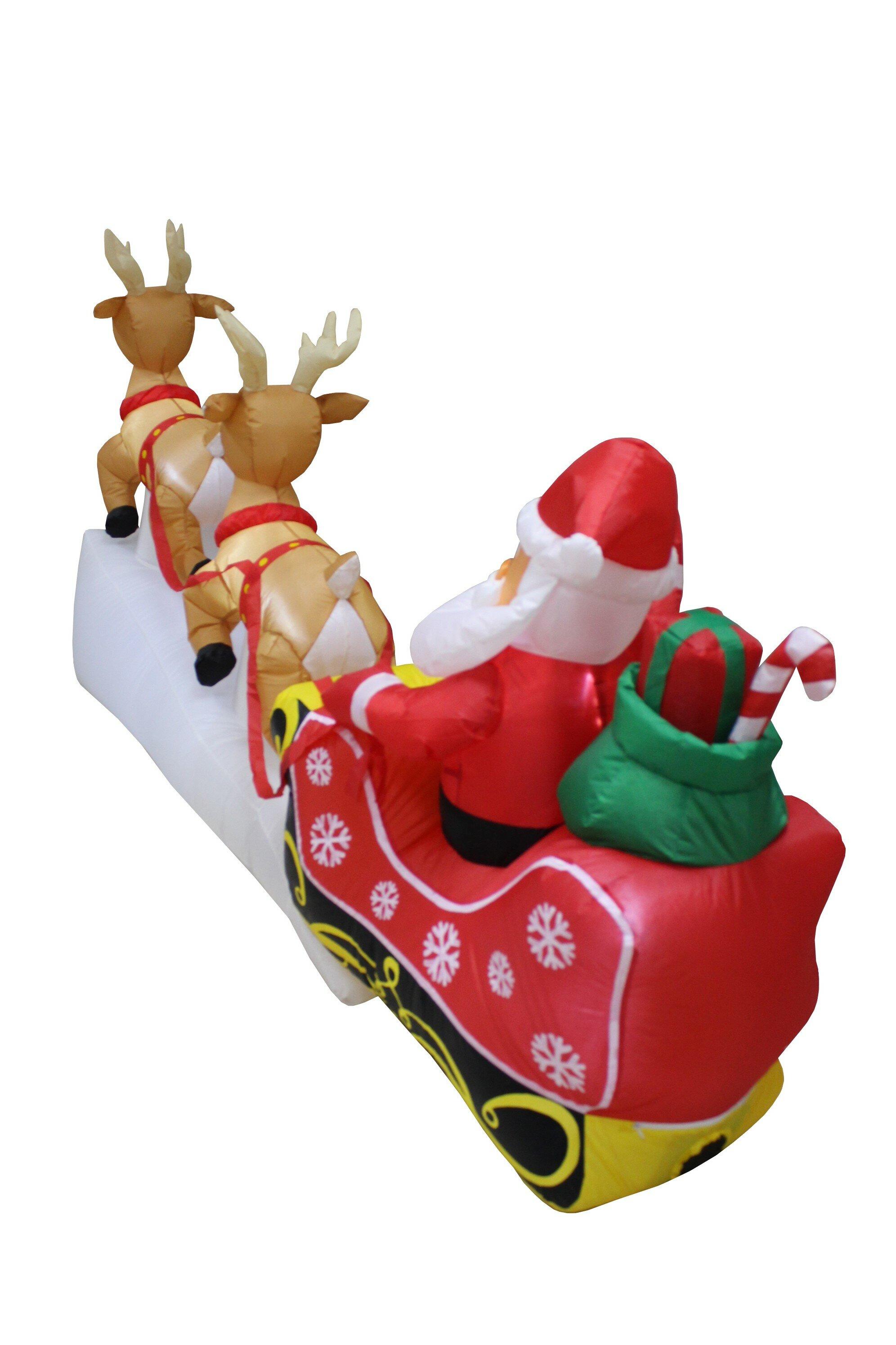 a55ce49b09 Santa Claus Reindeer Sleigh Christmas Inflatable