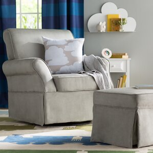 Deals Antonia Swivel Glider and Ottoman by Viv + Rae