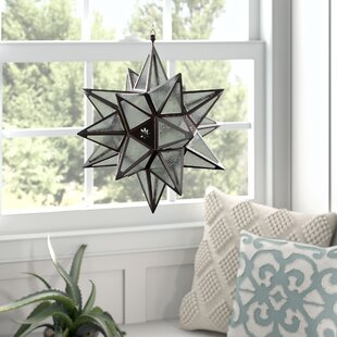Star Iron/Glass Lantern by Mistana