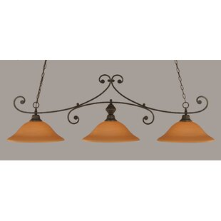 Fleur De Lis Living Babin 3-Light Billiard Light