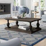 Shameka Solid Wood Floor Shelf Coffee Table with Storage by Birch Lane™