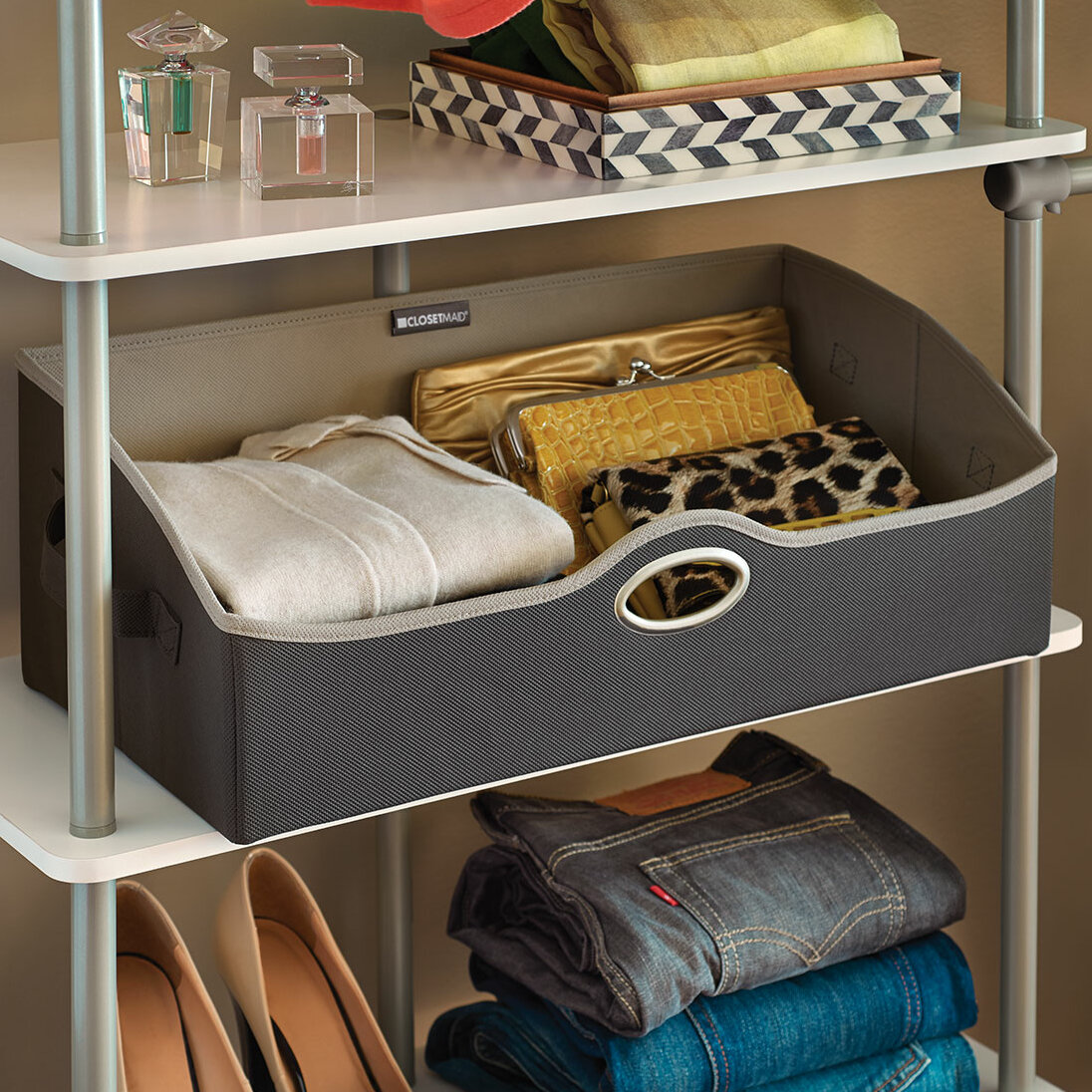 & ClosetMaid Large Fabric Storage Bin u0026 Reviews | Wayfair