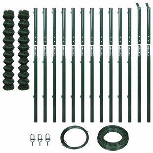 25m X 1.97m Chain Link With Posts Fence Set By Symple Stuff