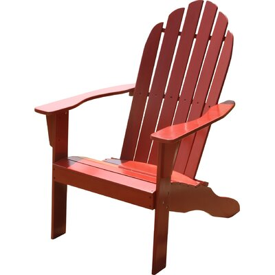 Fordyce Hardwood Adirondack Chair Color: Red by Andover Mills