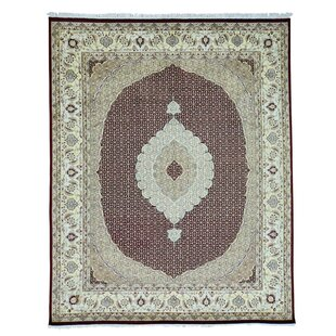 Compare prices One-of-a-Kind Bagwell Pak Mahi 300 Kpsi Hand-Knotted Black Area Rug By Isabelline