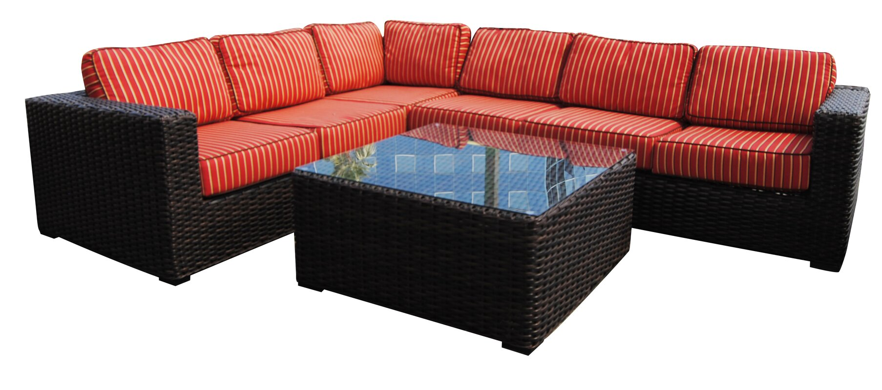 Santa Monica Sectional Seating Group With Sunbrella Cushions