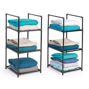 Affordable 3 Shelf Stacking Rack (Set of 2) ByRichards Homewares