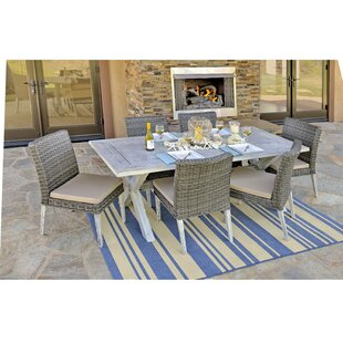 Chambless 7 Piece Dining Set with Cushions