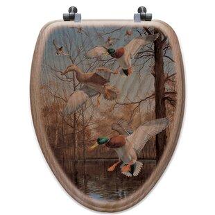 WGI-GALLERY Greenhead Haven Oak Elongated Toilet Seat