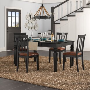 Langwater Traditional 5 Piece Dining Set by Beachcrest Home 2019 Online