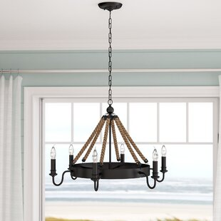 Read Reviews Vanesa 6-Light Wagon Wheel Chandelier By Longshore Tides