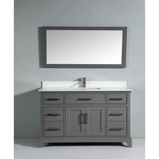 Phoenix Stone 60 Single Bathroom Vanity with Mirror