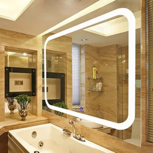 Affordable LED Lighted Vanity Wall Mirror ByFab Glass and Mirror