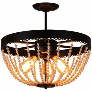 Werner 3-Light Semi Flush Mount by Bay Isle Home