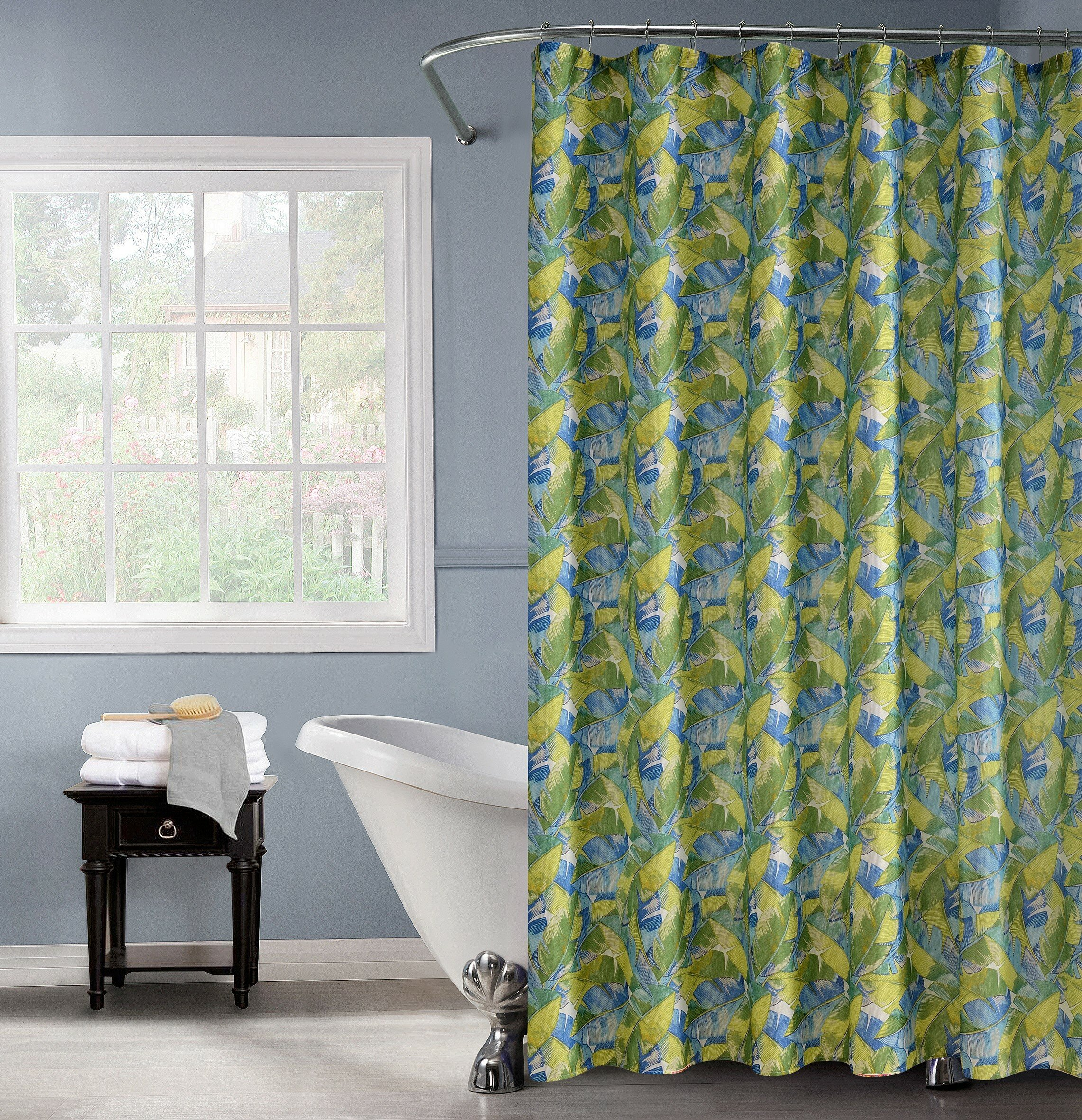 Charlton Home Rexdale Printed Shower Curtain Set