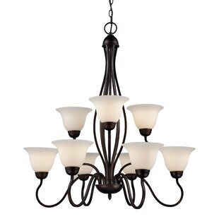 Fleur De Lis Living Bloomington 9-Light Shaded Chandelier