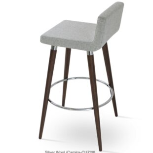 Harlowe Wood 29 Bar Stool by Comm Office Modern