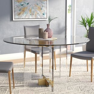 round glass dining table 60 Round Glass Dining Table | Wayfair round glass dining table