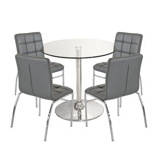 Showalter Dining Set With 4 Chairs By Mercury Row