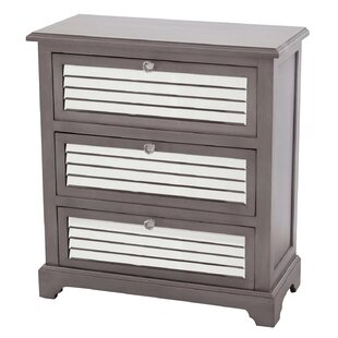 Summit Mirrored 3 Drawer Accent Chest by Gallerie Decor