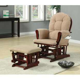 Maghull Baby Nursery Manual Glider Recliner with Ottoman by Harriet Bee