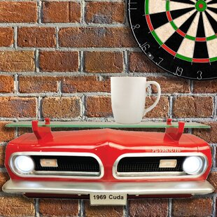 Comeaux 1969 Plymouth Barracuda Front Wall Shelf by Zoomie Kids