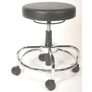 Height Adjustable Upholstered Lab Stool