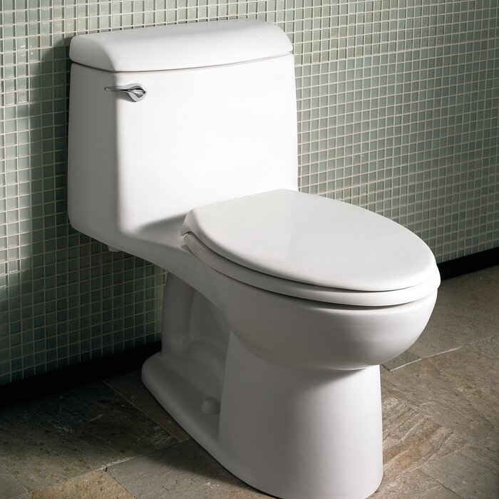 American Standard Toilet Seats >> Champion 4 Right Height 1 6 Gpf Elongated One Piece Toilet Seat Not Included