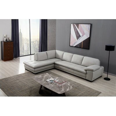 Grey Leather Sectionals You Ll Love In 2019 Wayfair