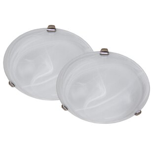 Ebern Designs Bellino 3-Light Flush Mount (Set of 2)