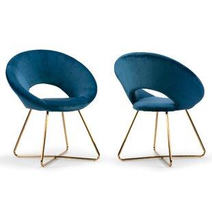 Savings Guevara Upholstered Dining Chair (Set of 2) by Mercer41 Reviews (2019) & Buyer's Guide