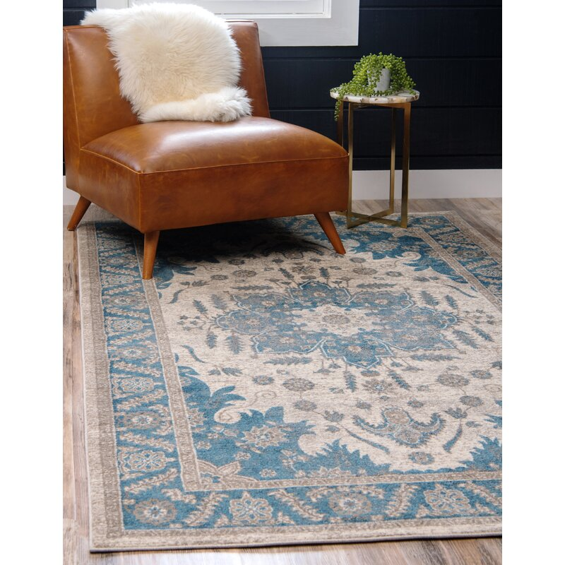 Jaiden Creamblue Area Rug Reviews Joss Main