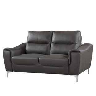 Junia Modern Leather Loveseat