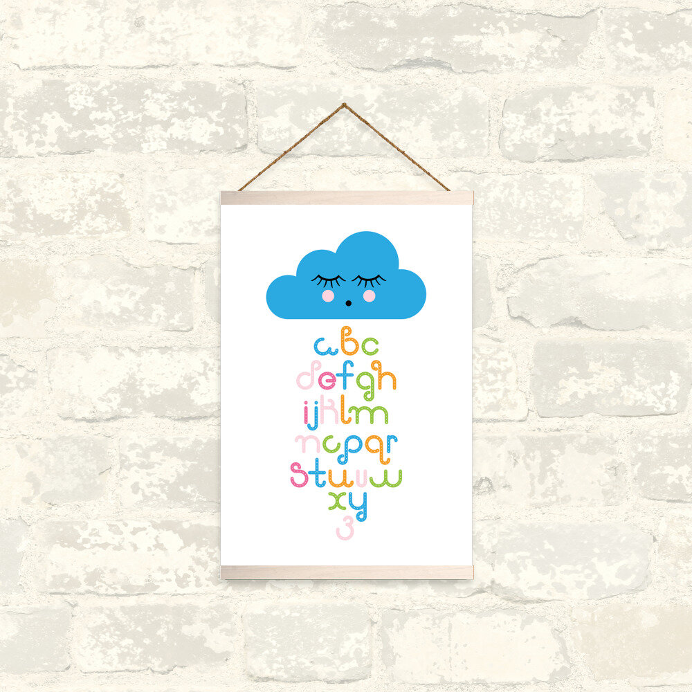 Raining Letters Alphabet Wall Hanging