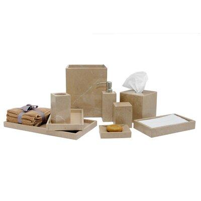 Darby Home Co Kadyn Marble 9 Piece Bathroom Accessories Set