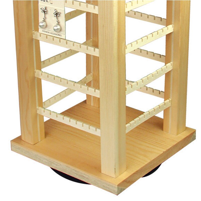 67c8e8982 Rebrilliant Wooden Rotating Earring Display & Reviews   Wayfair