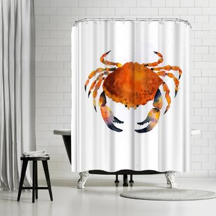 Rachel McNaughton Orange Crab Single Shower Curtain